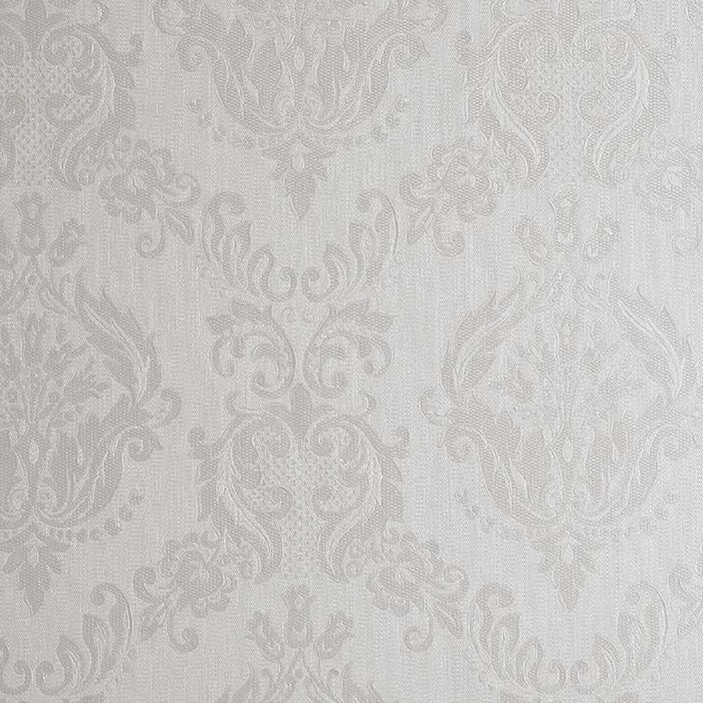 Ivory Shimmer Damask Wallpaper