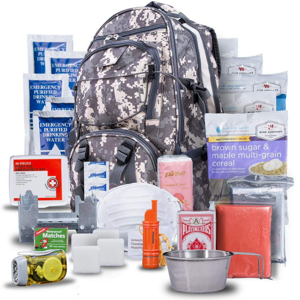 Wise Company 5-Day Survival Camo Backpack