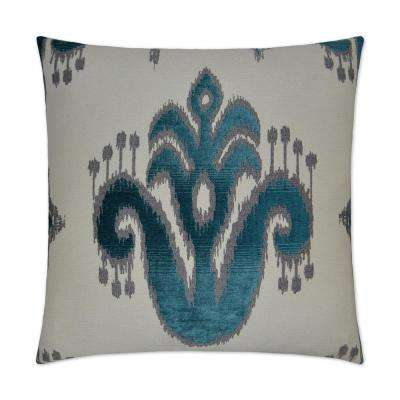 Caseeah Teal Feather Down 24 in. x 24 in. Decorative Throw Pillow