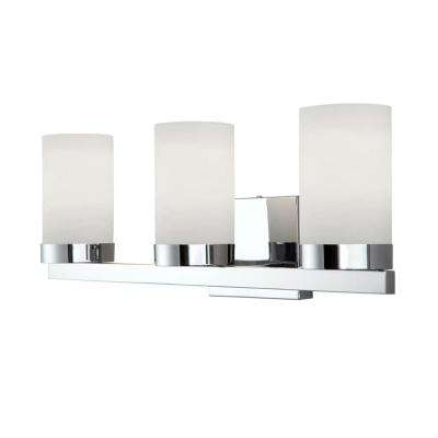 Milo 3-Light Chrome Bath Light