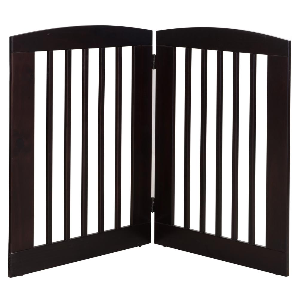 Camaflexi Ruffluv 36 in. H Wood 2-Panel Expansion Cappucc...