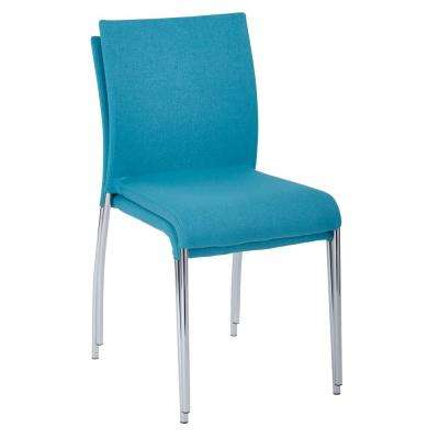 Conway Aqua Fabric Stacking Chairs (Set of 2)