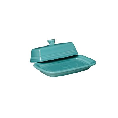 2-Piece Turquoise XL Covered Butter