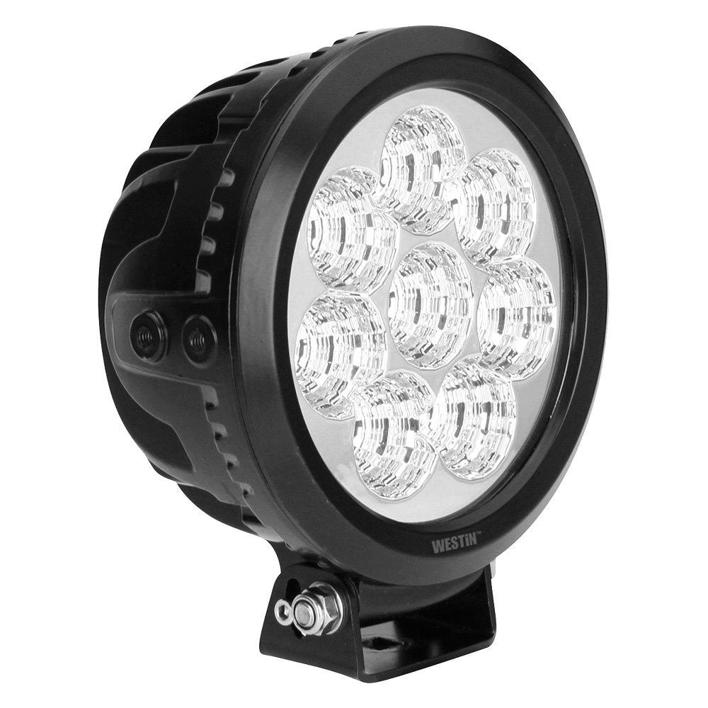 Ultra LED Auxiliary Light 6.5 inch Flood w/10W Cree - Black
