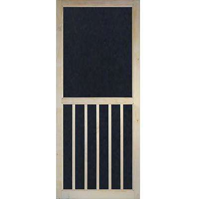 35.75 in. x 79.75 in. 5-Bar Stainable Screen Door