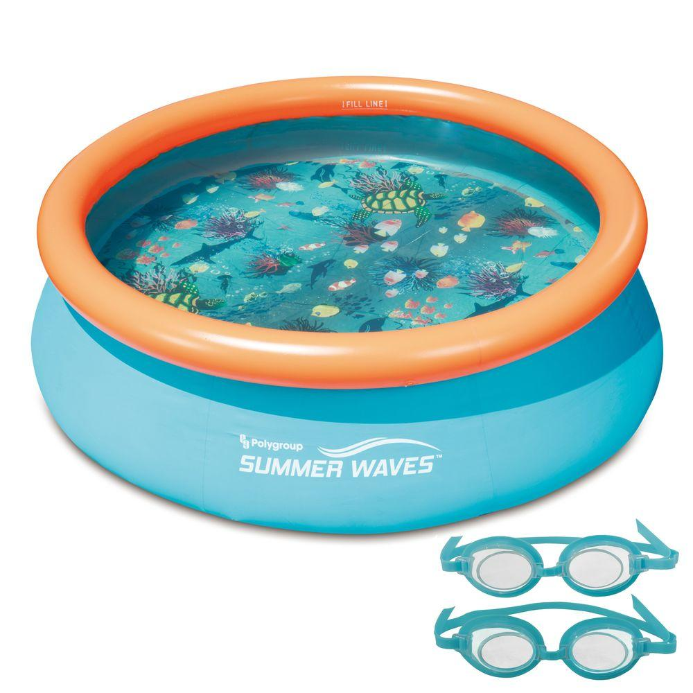 3D Fast Set Round Family Pool - 7 ft.