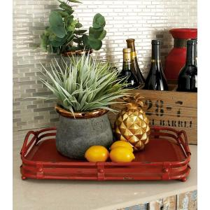 Farmhouse Rustic Red Decorative Wagon Trays (Set of 2) by