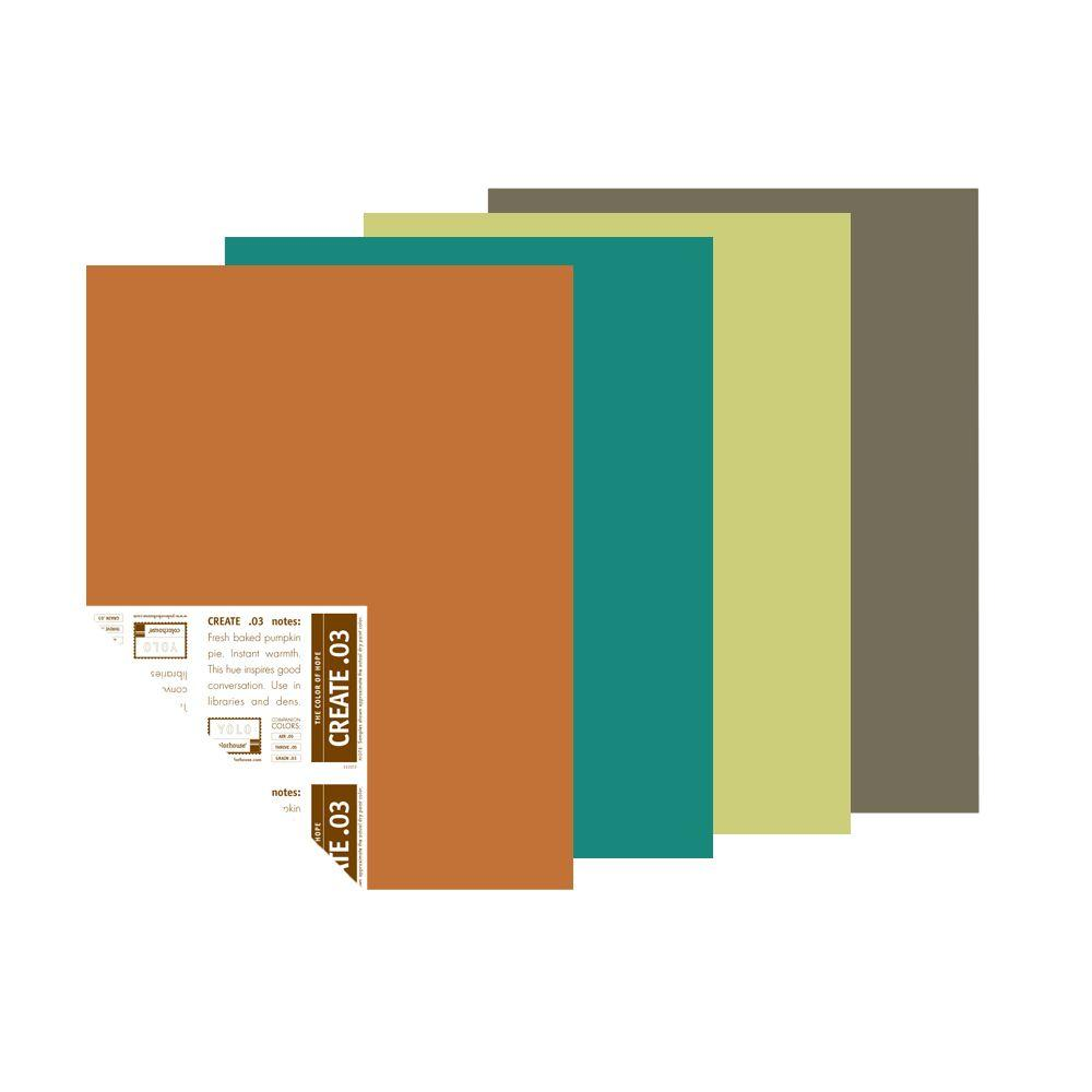 YOLO Colorhouse 12 in. x 16 in. Handcrafter Palette Pre-Painted Big Chip Sample (4-Pack)-DISCONTINUED