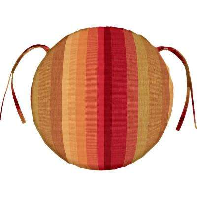 sunbrella astoria sunset round outdoor seat cushion