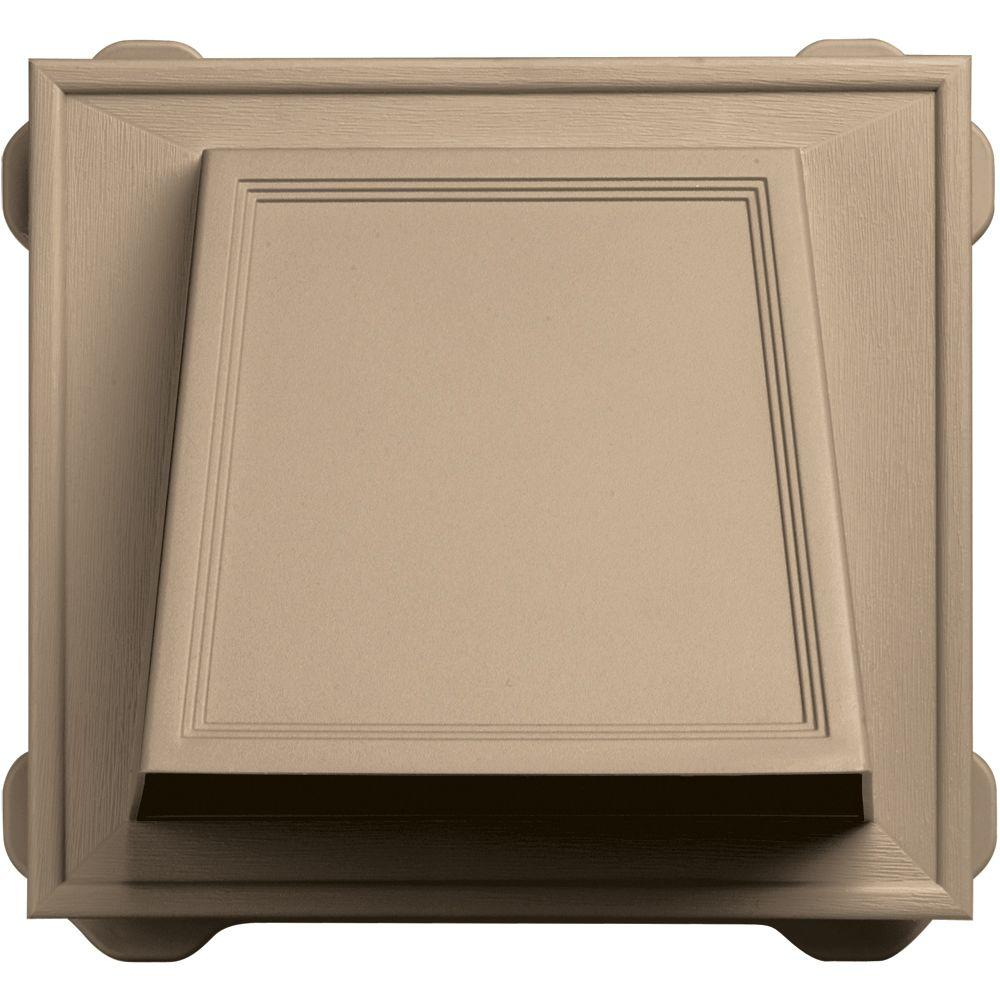 Builders Edge 6 in. Hooded Siding Vent #069-Tan