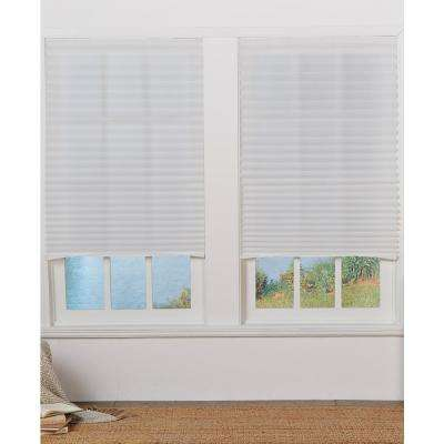 White Cordless Light-Filtering Set of 4 Temporary Pleated Shades - 36in. W x 72in. L