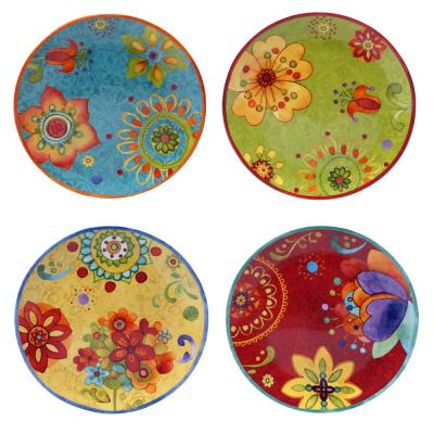 Tunisian Sunset Salad and Dessert Plate (Set of 4)
