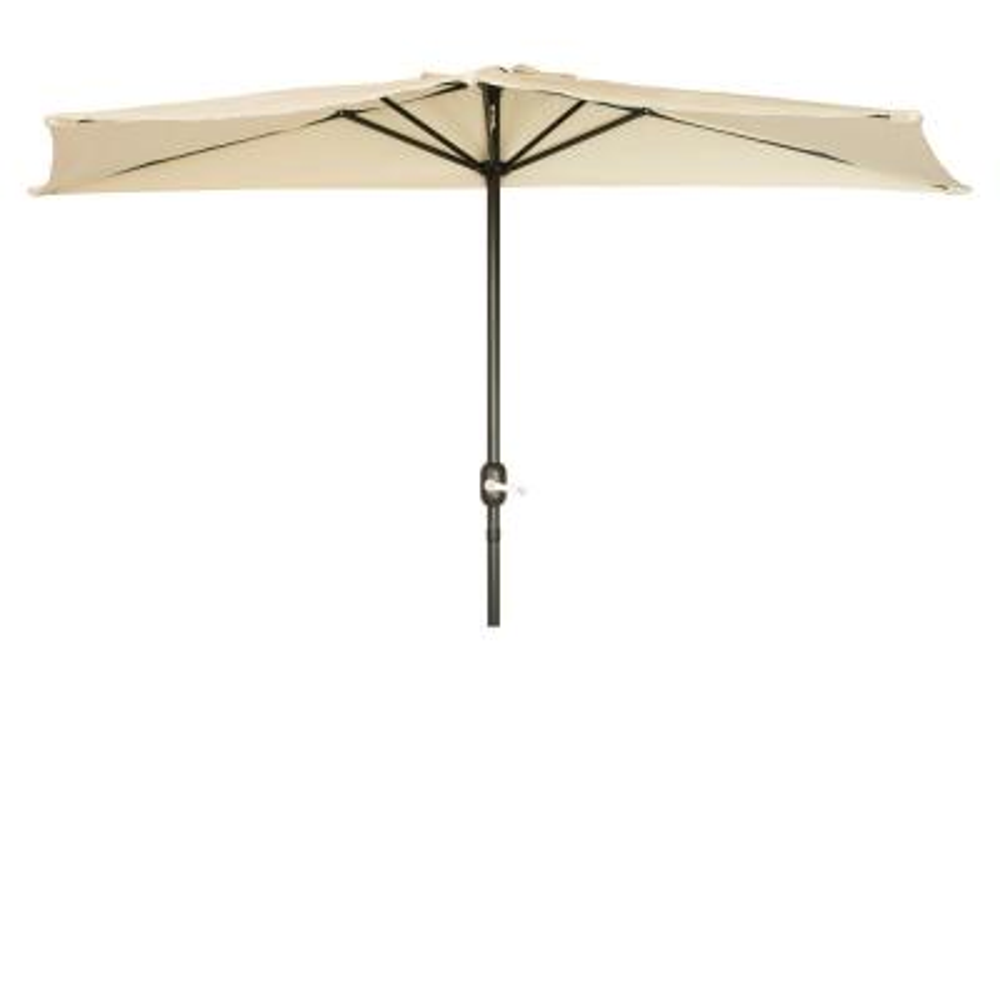 9 Beige Patio Half Umbrella by Trademark Innovations
