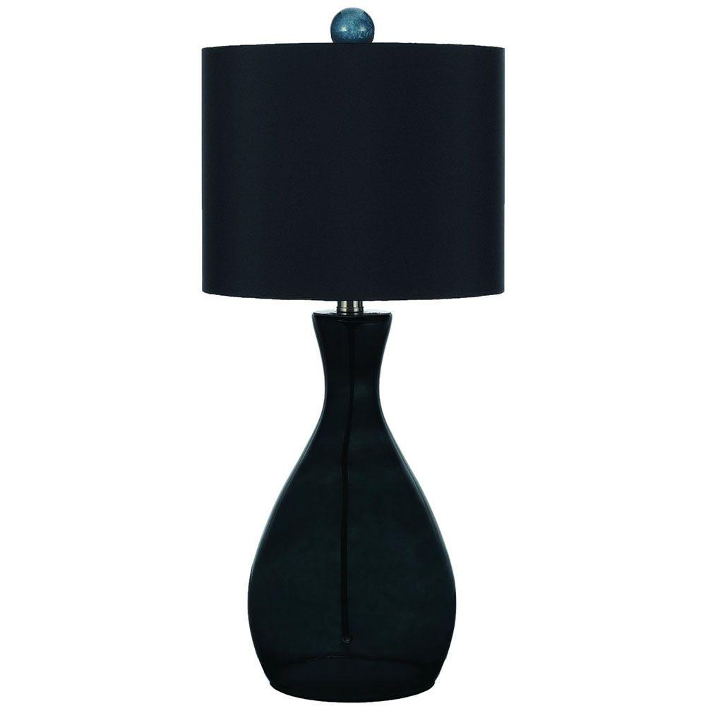 Af lighting mercer 26 in smokedark green hand blown glass table smokedark green hand blown glass table lamp aloadofball Gallery