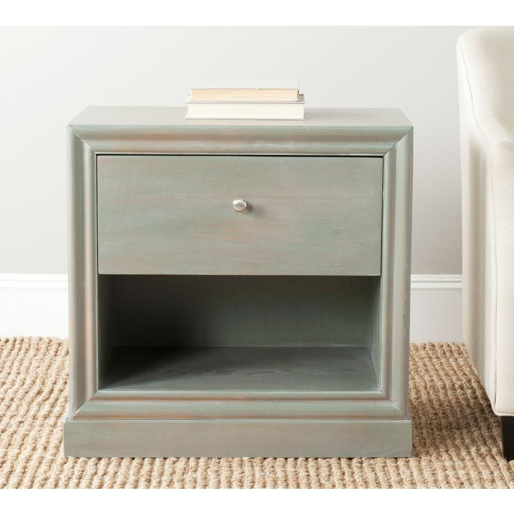 Safavieh Cain French Grey Storage End Table
