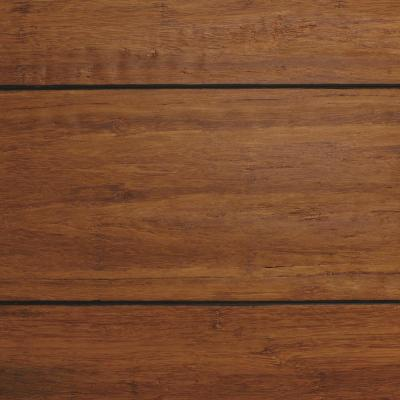 Strand Woven Distressed Dark Honey 1/2 in. T x Multi Width x 72 in. L Solid Bamboo Flooring