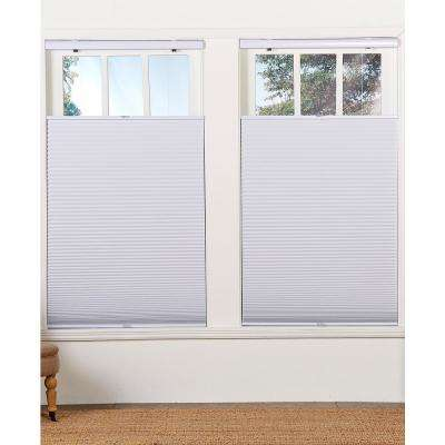 Cut-to-Width White 1.5in. Cordless Blackout Top Down Bottom Up Cellular Shade - 34in. W x 64in. L