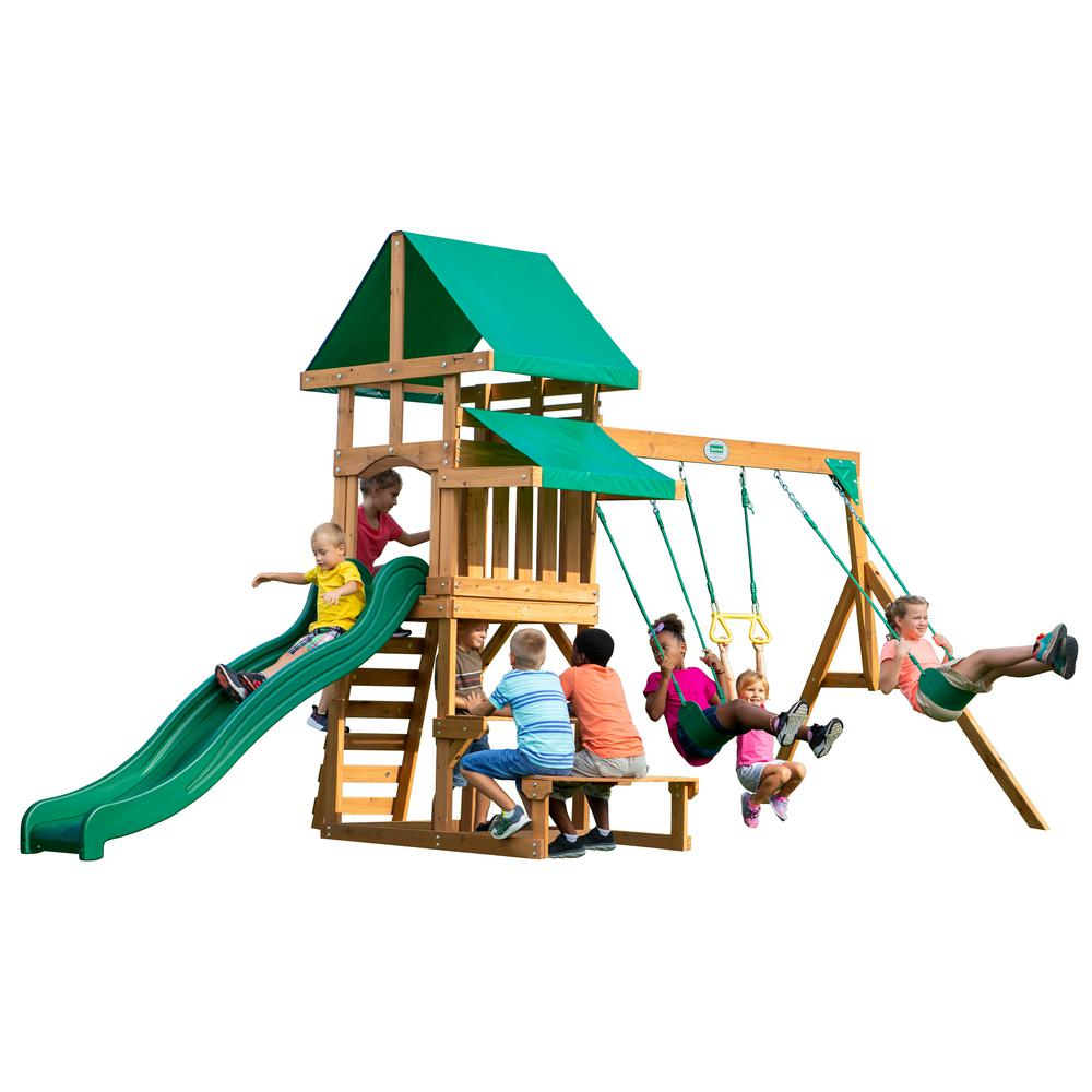 Backyard Discovery Belmont All Cedar Swing Set