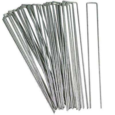 12 in. Heavy-Duty Steel Outdoor Landscaping Garden Staples (25-Set)