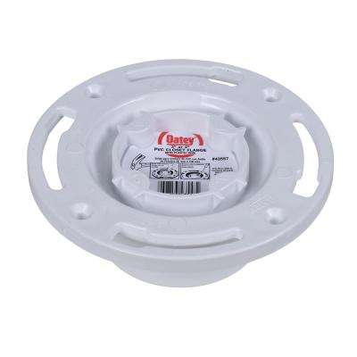 Oatey PVC Closed Toilet Flange with Pre-Installed Testing Cap