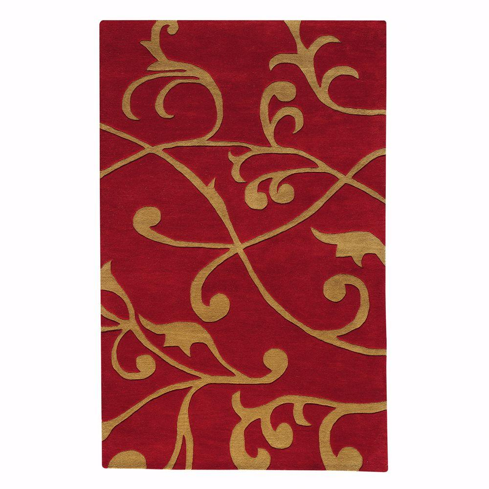 Home Decorators Collection Perpetual Red 5 ft. 3 in. x 8 ft. 3 in. Area Rug