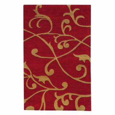 Perpetual Red 5 ft. x 8 ft. Area Rug