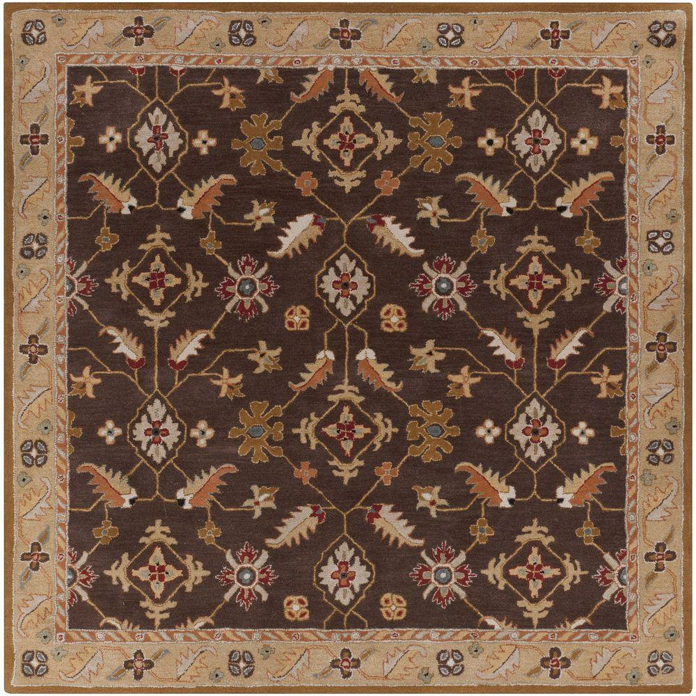 Epictus Chocolate 8 ft. x 8 ft. Square Indoor Area Rug
