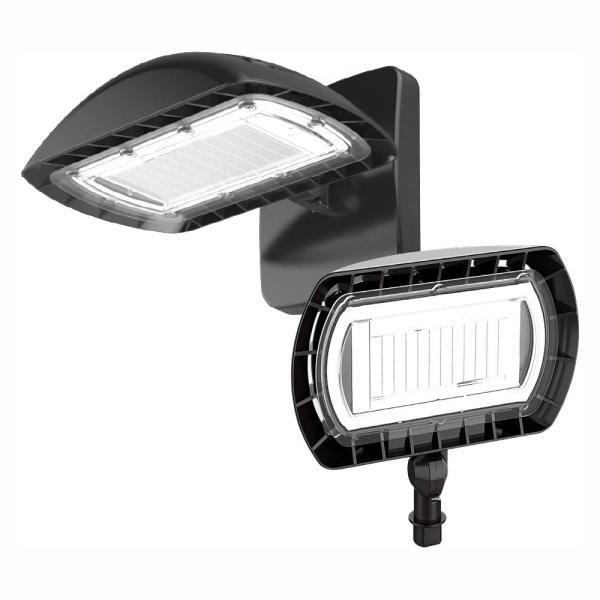 350-Watt Equivalent Integrated Outdoor LED Flood Light with Wall Pack Mount, 5500 Lumens, Dusk to Dawn Outdoor Light