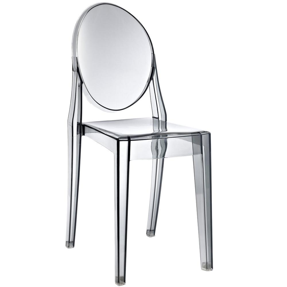 Casper Clear Dining Side Chair Smoked