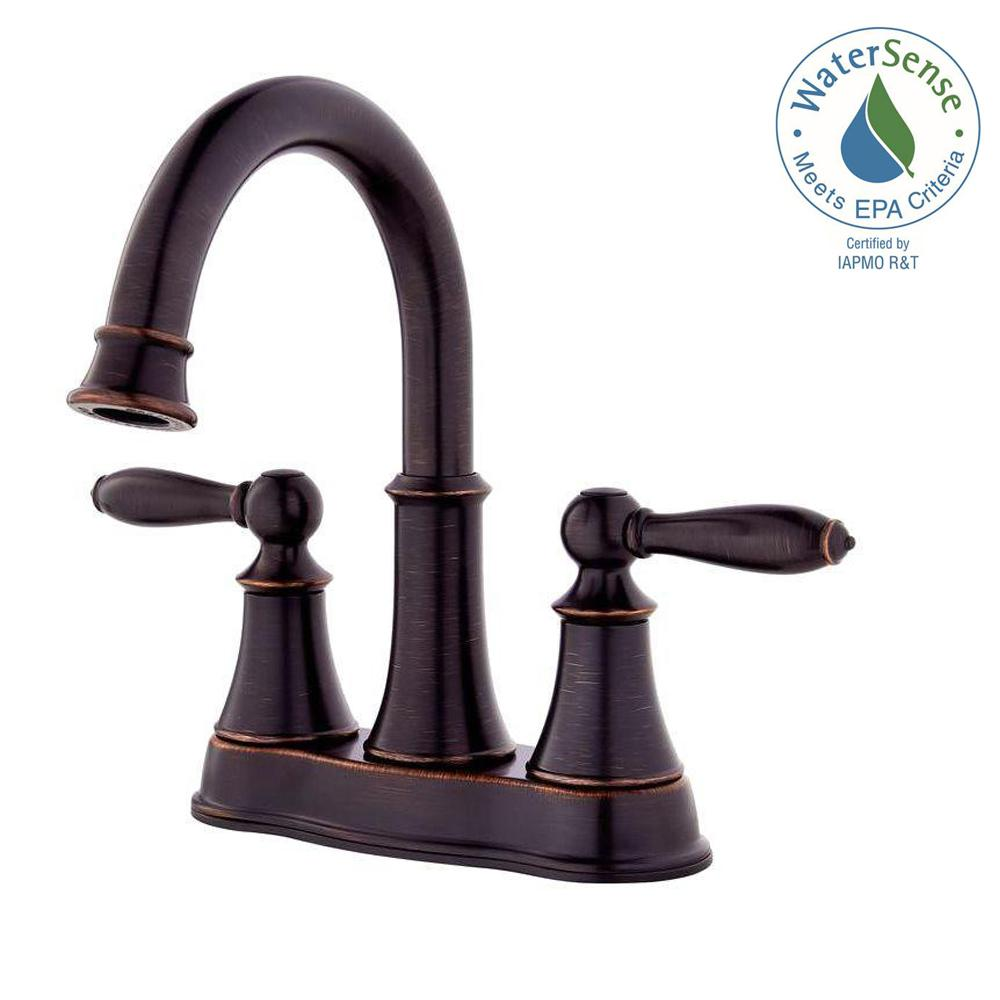 Pfister Courant 4 in. Centerset 2-Handle Bathroom Faucet in Tuscan ...