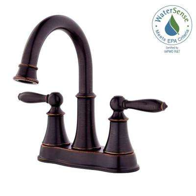 Courant 4 in. Centerset 2-Handle Bathroom Faucet in Tuscan Bronze