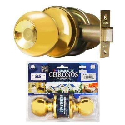 Polished Brass Finish Passage Hall/Closet Door Knob Set