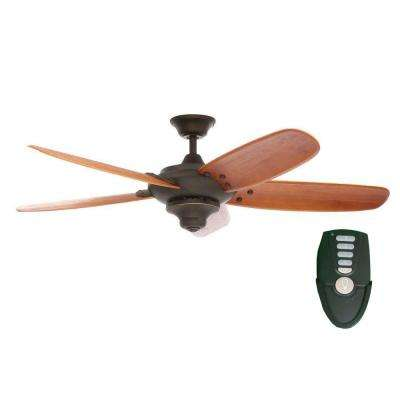 Altura 56 in. Indoor Oil Rubbed Bronze Ceiling Fan with Remote Control