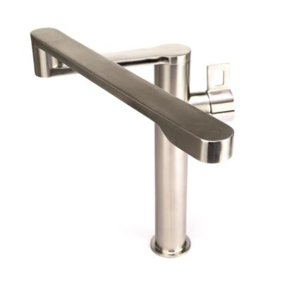 Deck-Mounted Single-Handle, Single-Hole Kitchen Pot Filler in Real Stainless Steel