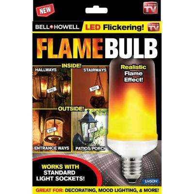 3-Watt Equivalent T60 280 Lumens Flame Design Soft White LED Light Bulb