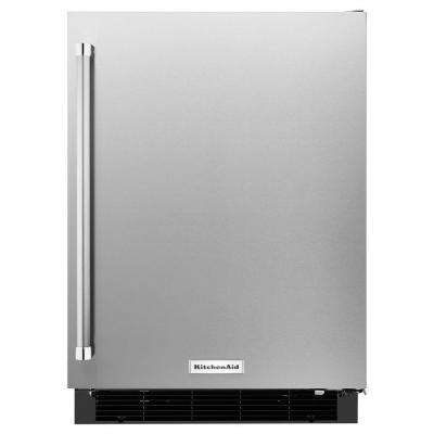 24 in. W 4.9 cu. ft. Undercounter Refrigerator in Stainless Steel