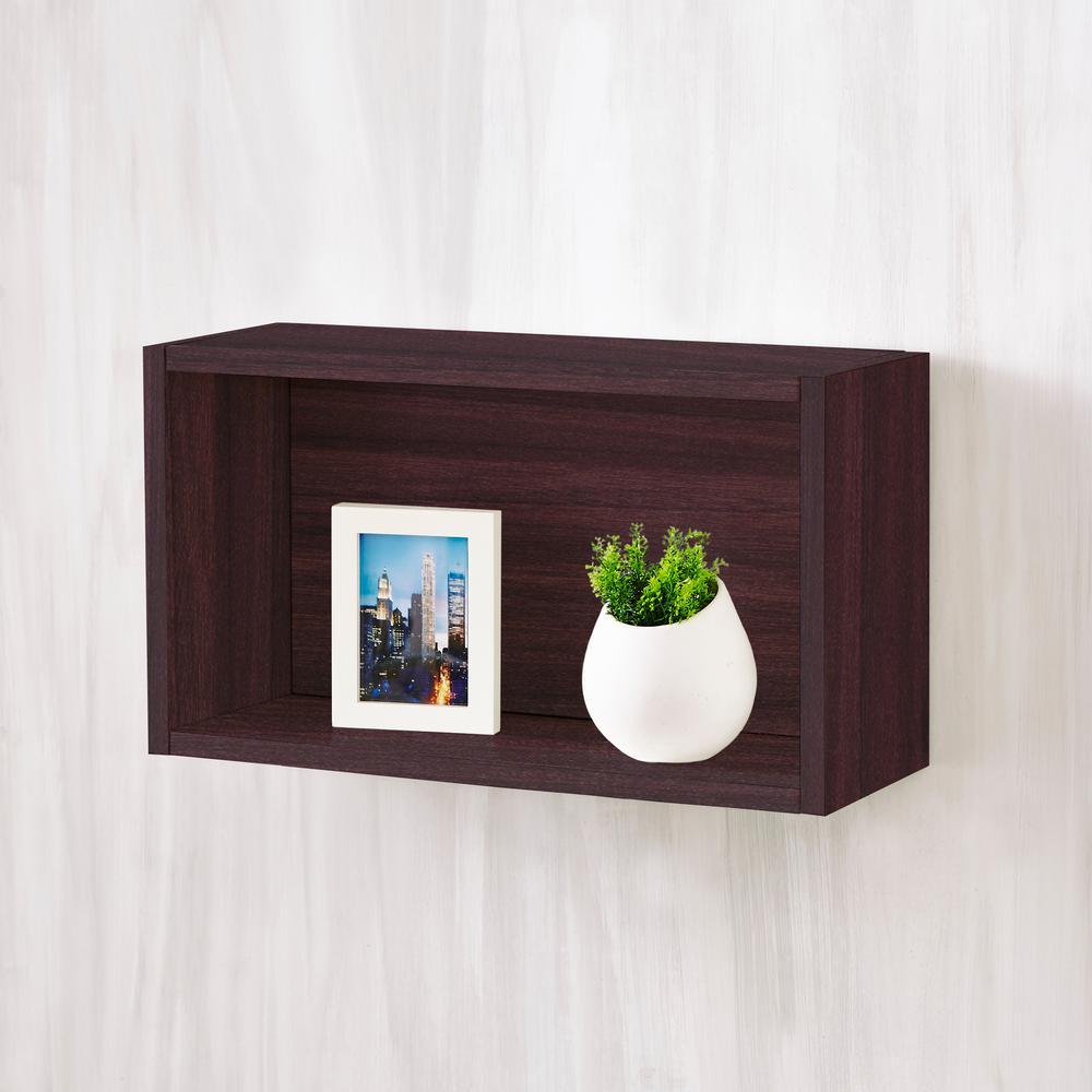 Nottingham 7.7 x 19.7 x 11.2 zBoard  Wall Rectangle Decorative Floating Shelf in Espresso Wood Grain