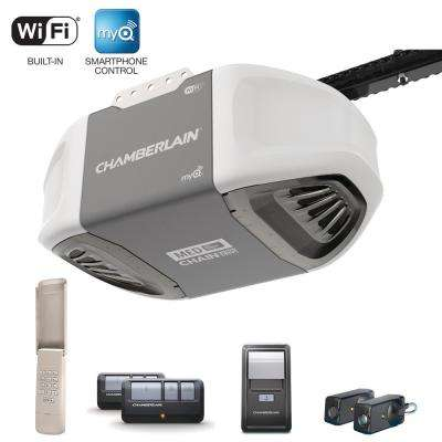 1/2 HP Smartphone-Controlled Heavy-Duty Chain Drive Garage Door Opener with MED Lifting Power