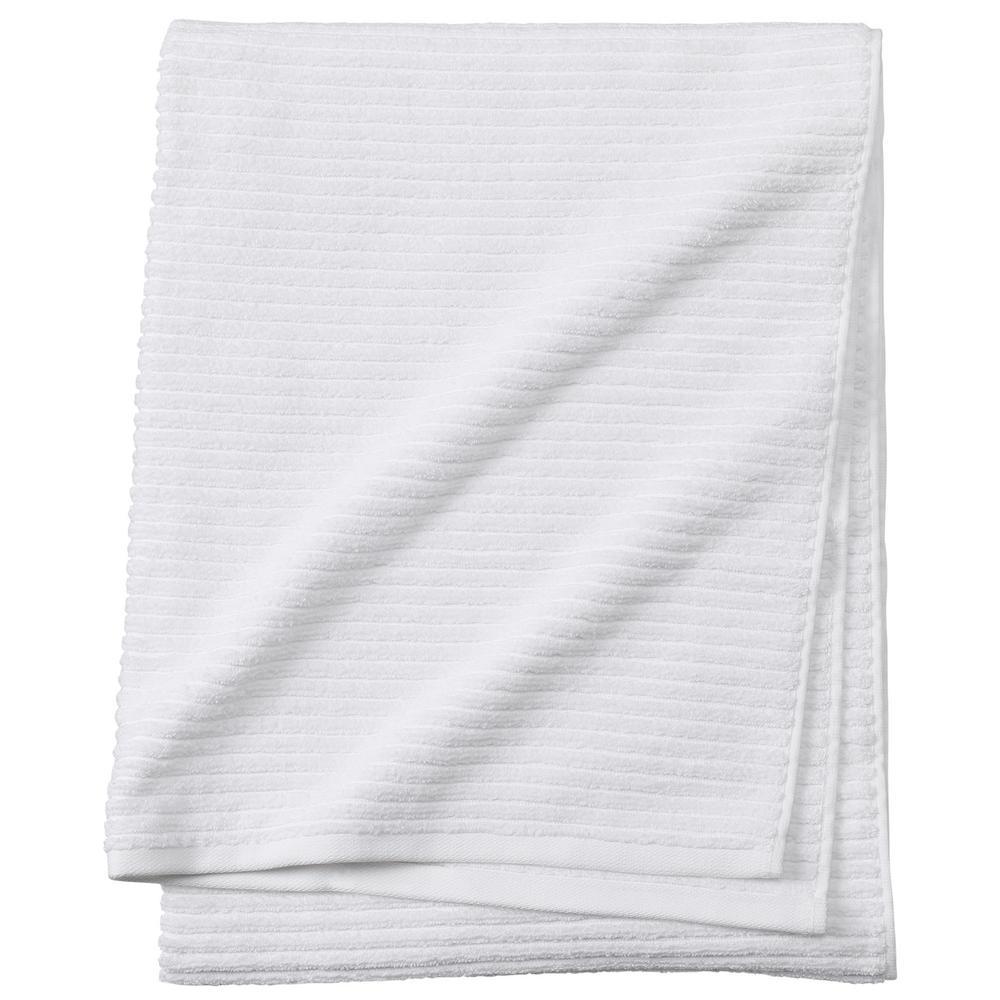 Monterey 1-Piece Ribbed Turkish Bath Towel in White