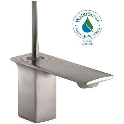Stance Single Hole Single Handle Low-Arc Bathroom Faucet in Brushed Nickel
