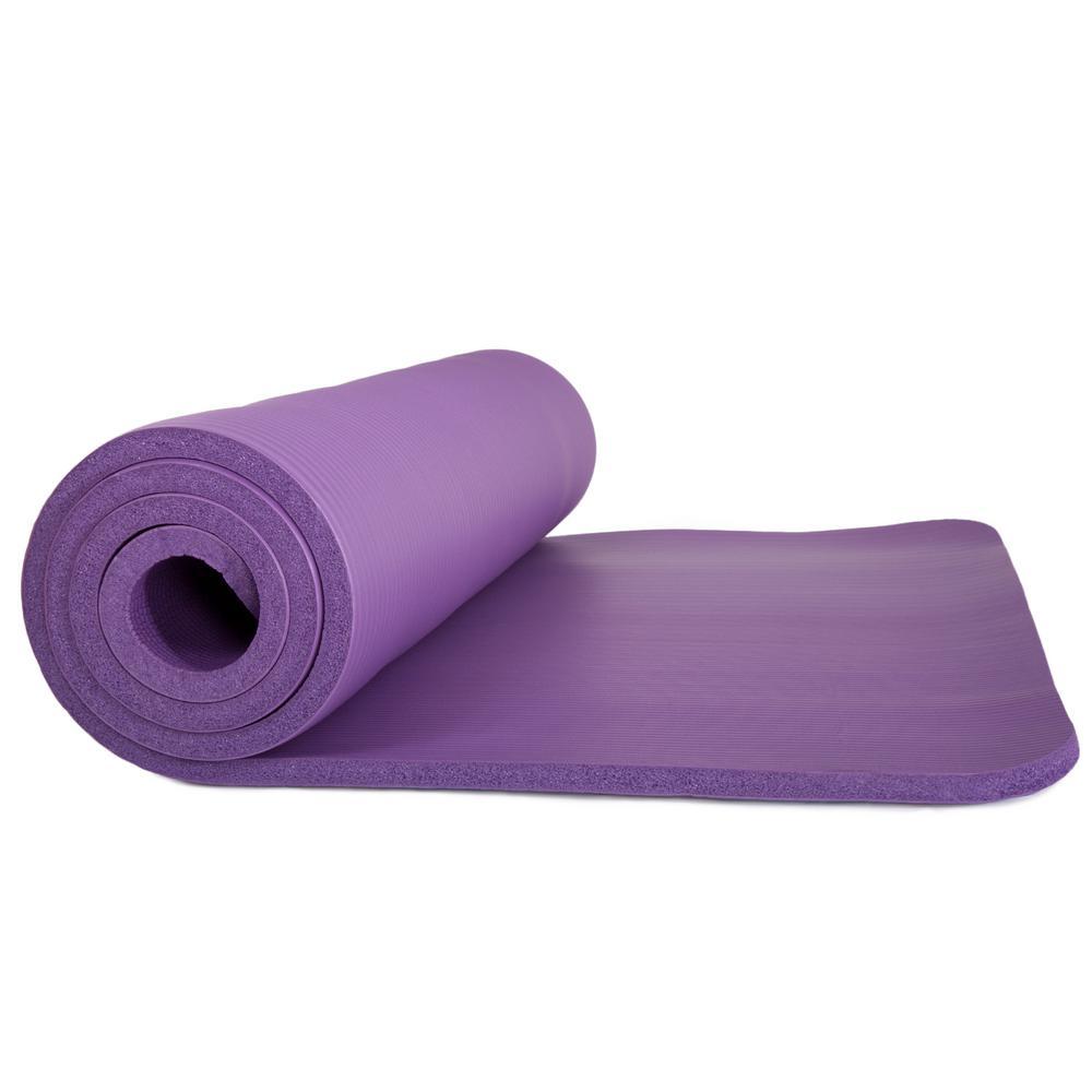 72 in. Non-Slip Luxury Foam Purple Camping Sleep Mat