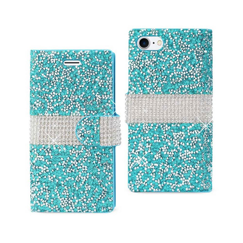 REIKO iPhone 7 Rhinestone Case in Blue