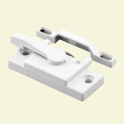 Vinyl Window Sash Lock with Keeper, White