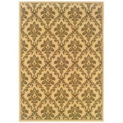 Kurdamir Damask Ivory 5 ft. 3 in. x 7 ft. 7 in. Area Rug