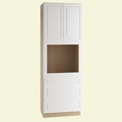 Hallmark Assembled 33 x 90 x 24 in. Pantry/Utility Universal Oven Kitchen Cabinet in Arctic White