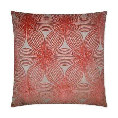 Ellery Coral Feather Down 24 in. x 24 in. Standard Decorative Throw Pillow