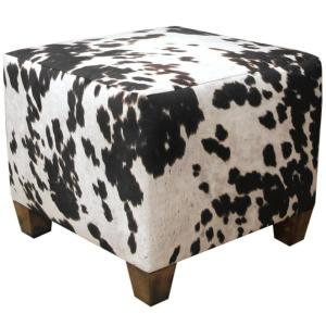 Udder Madness Domino Square Ottoman by
