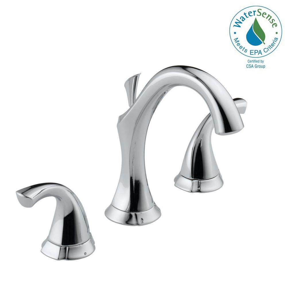Addison 8 in. Widespread 2-Handle Bathroom Faucet with Metal Drain Assembly