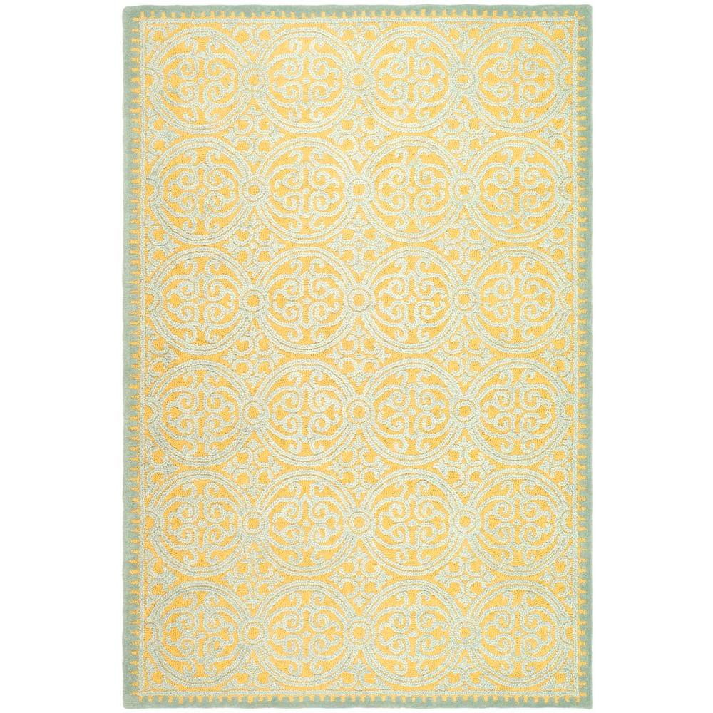 Cambridge Blue/Gold 6 ft. x 9 ft. Area Rug