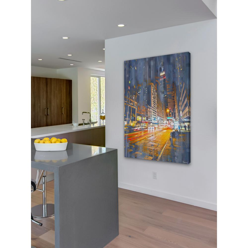 60 In H X 40 In W Quot City Lights Quot By Parvez Taj Printed